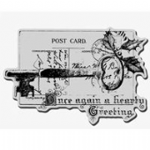 Stampendous - Key Note Cling Rubber Stamp - CRP128